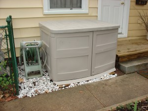 animal resistant trash storage unit