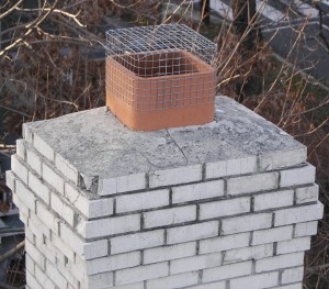 wire mesh chimney cap