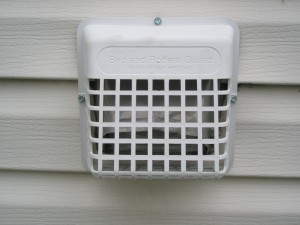 Protect your dryer and stove vents with special commercially made guards. J. Griffin