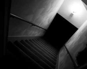 dark basement stairs